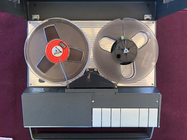 Tonband von oben offen
